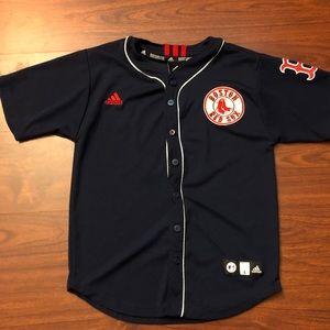 Adidas Boston Red Sox Dustin Pedroia Jersey Kids L